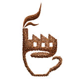 Fábrica del café Fotos de archivo libres de regalías