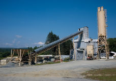 Fábrica del cemento Fotografía de archivo