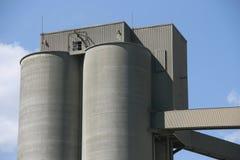 Fábrica del cemento Foto de archivo libre de regalías
