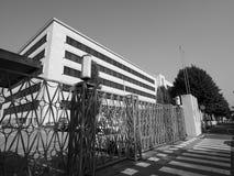 Fábrica del coche de los automóviles de Fiat Mirafiori Chrysler (FCA) en Turín i fotos de archivo