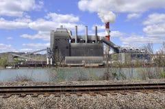 Fábrica del ferrocarril Foto de archivo libre de regalías