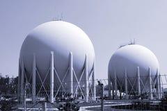 Fábrica del gas natural Imagen de archivo libre de regalías