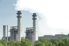 Fábrica del gas natural Fotografía de archivo libre de regalías