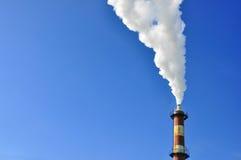 Fábrica del humo fotografía de archivo libre de regalías