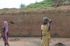 Fábrica del ladrillo en la India Fotos de archivo