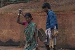 Fábrica del ladrillo en la India Foto de archivo libre de regalías