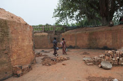 Fábrica del ladrillo en la India Fotografía de archivo libre de regalías