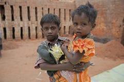 Fábrica del ladrillo en la India Imagenes de archivo