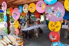 Fábrica del paraguas Imagen de archivo libre de regalías