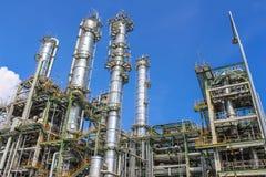 Fábrica del petróleo y del producto químico Fotos de archivo libres de regalías