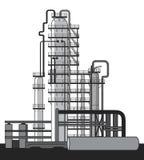 Fábrica del producto químico y del petróleo libre illustration