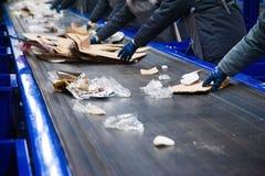 Fábrica del reciclaje de residuos imagen de archivo libre de regalías