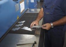 Fábrica do alumínio da estaca do laser imagem de stock