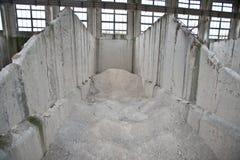 Fábrica do cimento Fotos de Stock Royalty Free