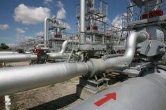 Fábrica do combustível Foto de Stock Royalty Free