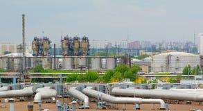 Fábrica do petróleo Fotos de Stock Royalty Free