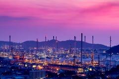 Fábrica do produto químico e do petróleo Foto de Stock