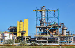 Fábrica do produto químico e do petróleo Fotografia de Stock Royalty Free