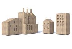 Fábrica e construção de madeira Fotografia de Stock Royalty Free