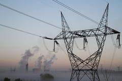 Fábrica e eletricidade Imagem de Stock