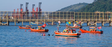 Fábrica e industria pesquera industriales Fotografía de archivo libre de regalías