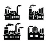 Fábrica e industrias y logotipo de las industrias libre illustration