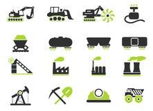 Fábrica e símbolos da indústria Foto de Stock