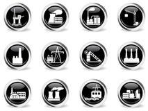 Fábrica e símbolos da indústria Fotos de Stock
