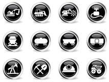 Fábrica e símbolos da indústria Imagem de Stock