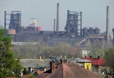 Fábrica em Ostrava Foto de Stock Royalty Free