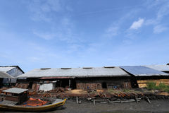 Fábrica en Taiping, Malasia del carbón de leña Fotografía de archivo libre de regalías