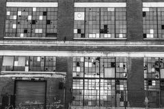 Fábrica industrial abandonada - III urbano de la desolación, llevado, rota y olvidado Fotografía de archivo