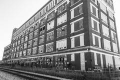Fábrica industrial abandonada - VI urbano de la desolación, llevado, rota y olvidado Imágenes de archivo libres de regalías