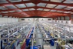 Fábrica industrial de la materia textil fotos de archivo