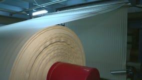 Fábrica industrial de la materia textil Producción de la tela almacen de video