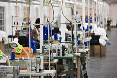 Fábrica industrial de matéria têxtil Imagem de Stock Royalty Free
