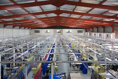 Fábrica industrial de matéria têxtil Fotos de Stock