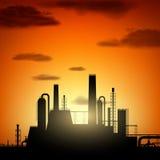 Fábrica industrial Ilustración común Fotografía de archivo