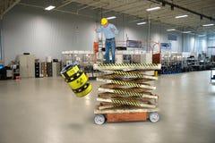 Fábrica industrial Job Safety da fabricação imagem de stock