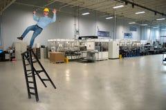 Fábrica industrial Job Safety de la fabricación foto de archivo libre de regalías