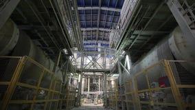 Fábrica interior, moderna industrial, interior de uma fábrica moderna, fábrica de tratamento, plano geral filme
