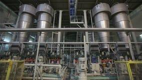 Fábrica interior, moderna industrial, interior de uma fábrica moderna, fábrica de tratamento, panorama video estoque
