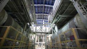 Fábrica interior, moderna industrial, interior de uma fábrica moderna, fábrica de tratamento, plano geral vídeos de arquivo