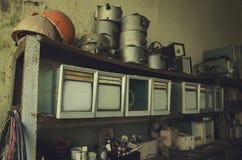 Fábrica metalúrgica abandonada que espera uma demolição Imagem de Stock