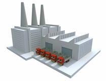 Fábrica modelo Imagem de Stock Royalty Free