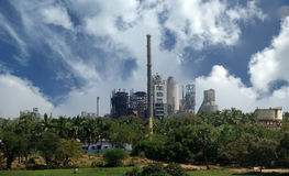 Fábrica moderna, Kerala, India sul imagem de stock royalty free