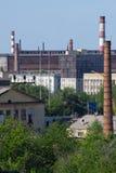 Fábrica na cidade Imagem de Stock Royalty Free