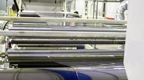 Fábrica o interior Interior da construção industrial Planta para a produção de filme plástico Imagem de Stock