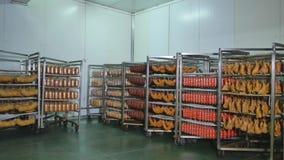 Fábrica para salsichas e a carne de fabricação filme