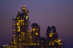 Fábrica química no deserto Israel Fotos de Stock